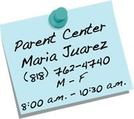 parent center sticky note