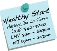 healthy start sticky note-spanish