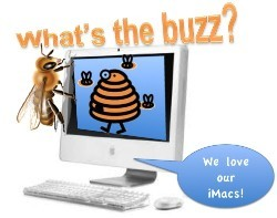 iMac computer lab what's the buzz clip art