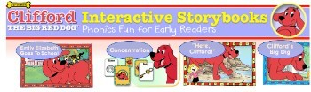 clifford interactive storybooks banner
