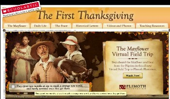 Scholastic First Thanksgiving page